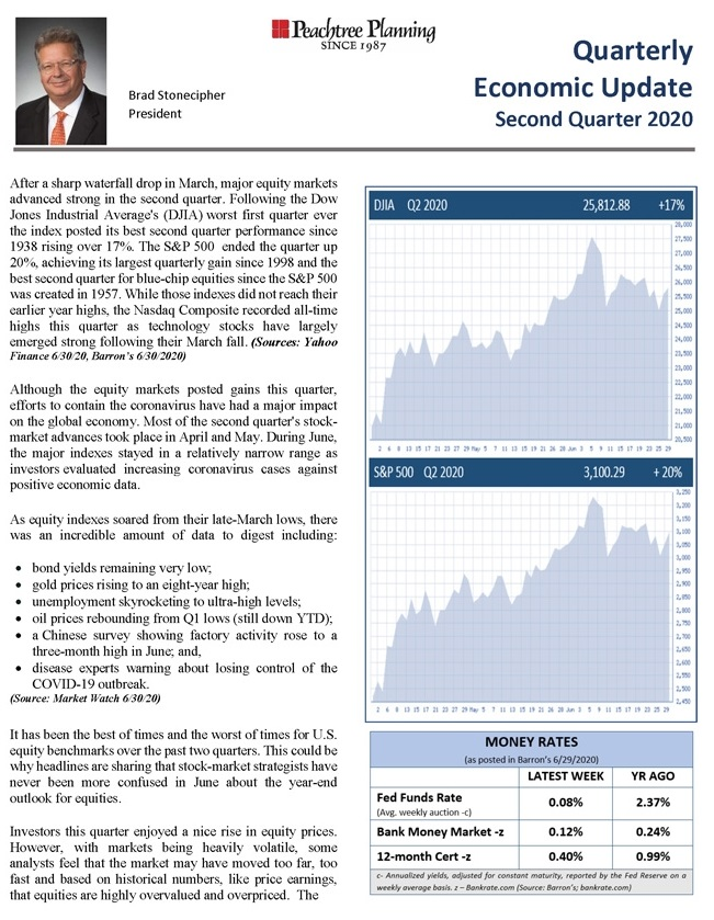 Quarterly Economic Update: Second Quarter 2020