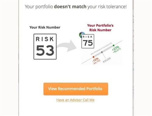 COMPARE YOUR RISK # TO YOUR CURRENT PORTFOLIO