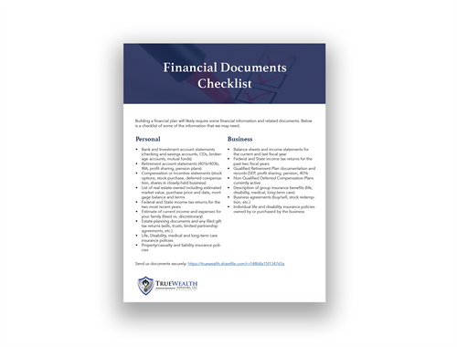 Step 1: View Your Financial Documents Checklist