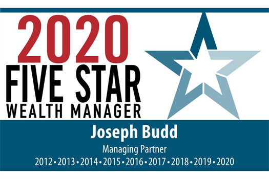Joe Budd is a Five Star Wealth Manager