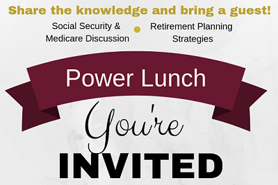 Power Lunch: Retirement Income Streams and Medicare Education