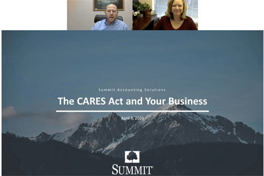 Live Webinar with Summit Accounting Solutions | The Cares Act for Small Business Owners Q&A