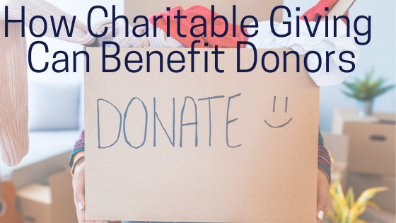 How Charitable Giving  Can Benefit Donors