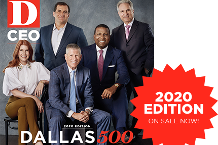 Debra named to prestigious D CEO Dallas 500 list for 2020