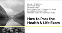 How to Pass Your Life & Life Insurnace Exam