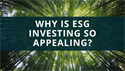 Why is ESG Investing So Appealing?