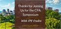 Thanks for Joining Us at Our 5th Annual CPA CPE Event