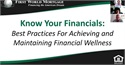 Know Your Numbers: Best Practices for Achieving and Maintaining Financial Wellness