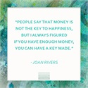 Wednesday Wisdom from Joan Rivers on Money and Happiness