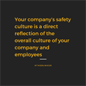 The Importance of Building a Safety Culture
