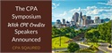 The 2016 CPA Symposium with CPE Credits New Speakers Announced
