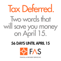 "Preparing for April 15: What is ""Tax Deferred?"""