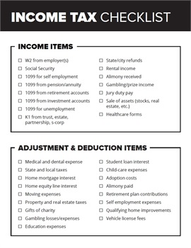 Income Tax Checklist to Stay on Track