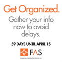 Preparing for April 15: Get organized. Gather your info.