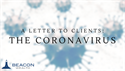 A Letter to Clients: The Coronavirus