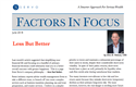 June Factors In Focus