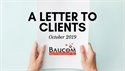 A Letter to Clients - October 2019