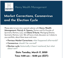 IMPORTANT INVITATION: Henry WM/ Symmetry Webinar about the Markets, Tuesday, March 17th