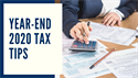 Year-End 2020 Tax Tips