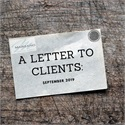 A Letter to Clients: September 2019