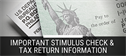Important Stimulus Check and Tax Return Information