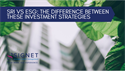 SRI Vs ESG: The Difference Between These Investment Strategies