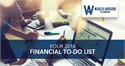 Your 2018 Financial To-Do List