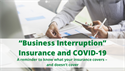 "The Nasty ""Business Interruption"" Insurance Fight"