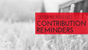 2018 Year End Contribution Reminders