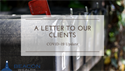 A Letter to Our Clients