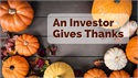 An Investor Gives Thanks