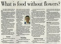 Column: What is food without flowers?