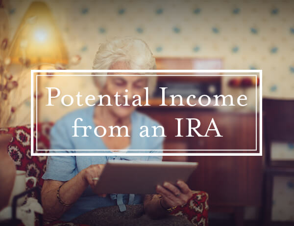 <p>Potential Income from an IRA</p>