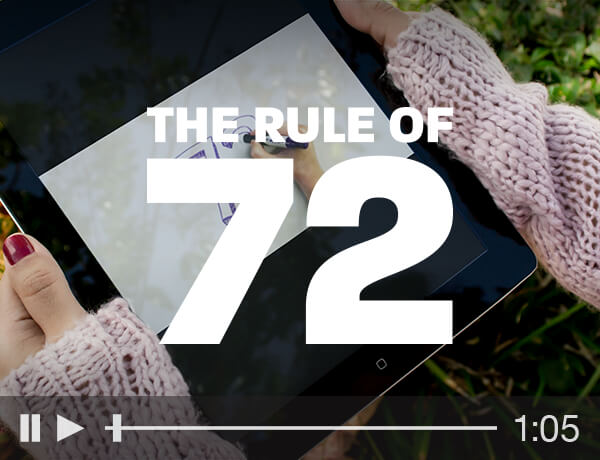 <p>The Rule of 72</p>