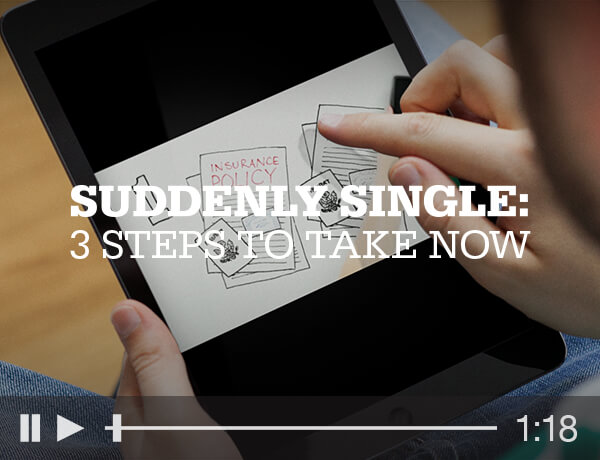 Suddenly Single: 3 Steps to Take Now