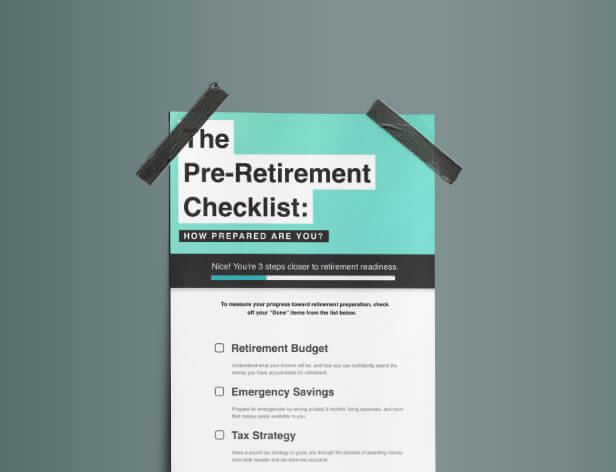 <p>The Pre-Retirement Checklist</p>