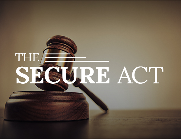 <p>The SECURE Act</p>